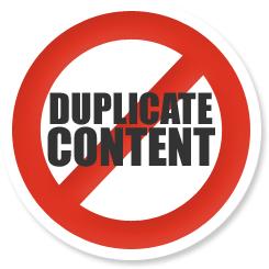 Non au contenu dupliqué