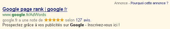 Google page rank et adwords